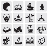 Conjunto de iconos de spa — Vector de stock