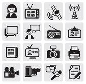 Jeu d'icônes de journaliste — Vecteur