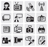 Reporter icons set — Vector de stock
