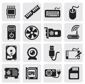 Computer icons set — Stockvector