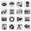 Photo icons — Vector de stock #11501804