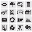 Photo icons — Stockvectorbeeld