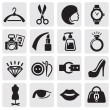 mode-iconen — Stockvector #11501806