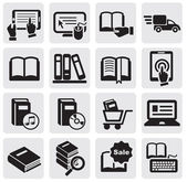 Böcker ikoner — Stockvektor