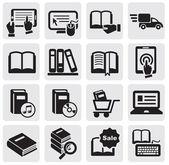 Boeken van pictogrammen — Stockvector