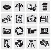 Fotoğraf simgeler — Stok Vektör
