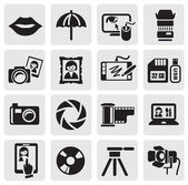 Photo icons — Vettoriale Stock