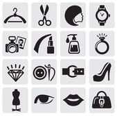 Icônes de la mode — Vecteur