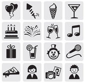Birthday icons set — Stock Vector