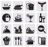 Restaurante conjunto de iconos — Vector de stock