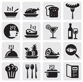 Restaurante conjunto de iconos — Vector de stock