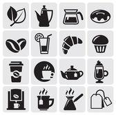 Café simgeler — Stok Vektör