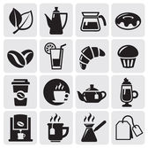 Cafe icons — Vettoriale Stock