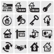 Real estate icons. — Stockvectorbeeld