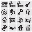 Real estate icons. - Image vectorielle