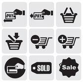 Betalning ikoner — Stockvektor