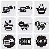 Zahlung-symbole — Stockvektor