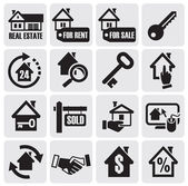 Real estate icons. — Vector de stock