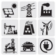 Stock Vector: Energy set