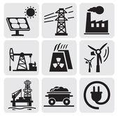 Set di energia — Vettoriale Stock