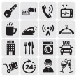 Stock Vector: Hotel and rest icons set