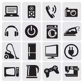 Enheter ikoner set — Stockvektor
