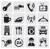 Hotel and rest icons set — Vector de stock