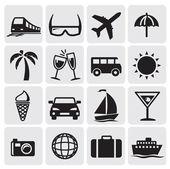 Cestovní ruch sada icins — Stock vektor