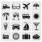 Turizm icins ayarla — Stok Vektör