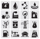 Energy and power icons — Stock Vector