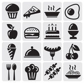 Food icons — Vettoriale Stock