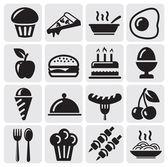 Potraviny ikony — Stock vektor