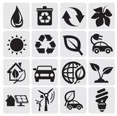 Icônes d'énergie eco — Vecteur