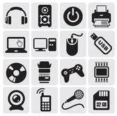 Ensemble d'icônes électrique — Vecteur