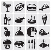 Food Drink icons — Vector de stock