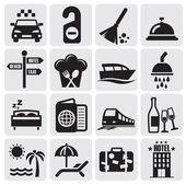ícones do hotel — Vetorial Stock
