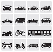 Transportation set — Stock Vector