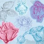 Flowers seamless pattern — Stock Vector