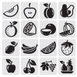 Royalty-Free Stock Vektorfiler: Fruit vector set