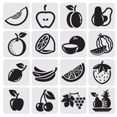 Fruit vector set — Vector de stock
