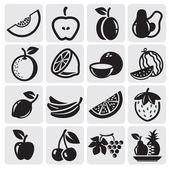 Frutta set vettoriale — Vettoriale Stock