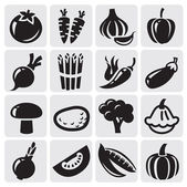 Vegetables vector set — Stock Vector