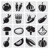 Vegetables vector set — Stock Vector