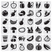 Fruit and Vegetables set — Vector de stock