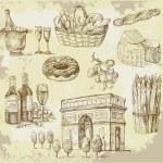 France-original hand drawn set — Stock Vector #11950871