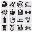 Fitness icons — Stockvectorbeeld