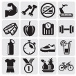 Fitness icons — Stock Vector #11980215