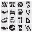 Auto Car icons - Stockvectorbeeld