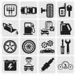 Vector de stock : Auto Car icons