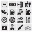 Stok Vektör: Auto Car icons
